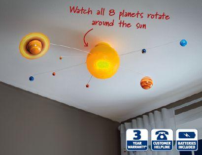 kid's ideas: Solar System Light   Science room   Pinterest