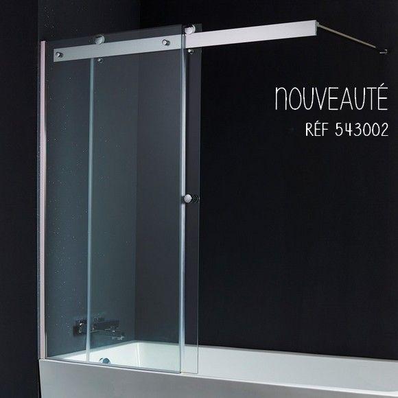 Un pare-baignoire coulissant pour vous assurer sécurité, imperméabilité et design. #planetebain #baignoire #parebaignoire