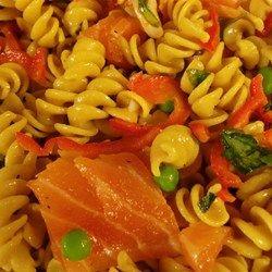 Grilled salmon pasta salad recipe