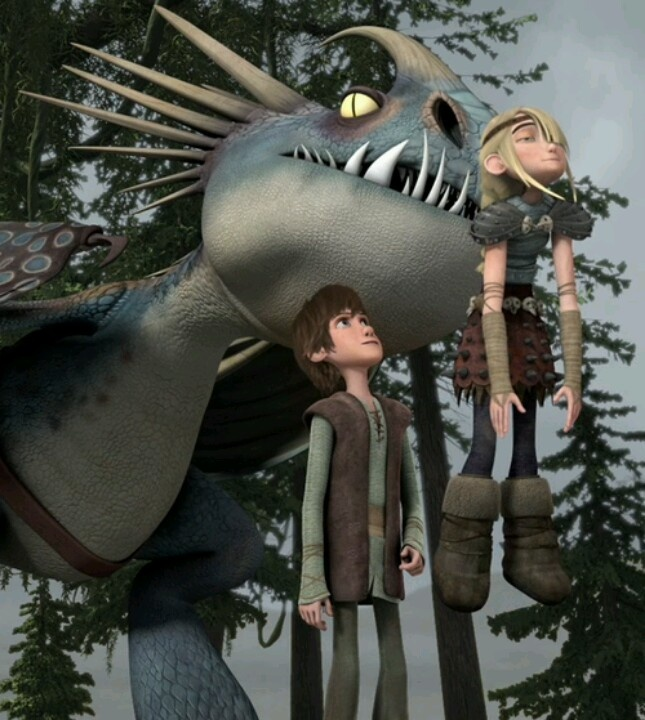Awww, so cute! Astrid looks...happy? | Dragons: Riders of ...