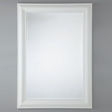 Buy John Lewis Bead Mirror, White, 110 x 79cm Online at johnlewis.com