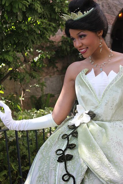 Only because she is my favorite Disney princess and I aspire to be her one day at Disneyland (; oh and I met this Tiana at Disneyland and had a little chat w/ her!(: