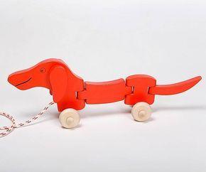 Dachshund Dog Pull Along Toy