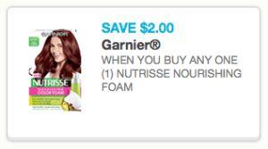 Garnier Nutrisse Foam Hair Color Coupon