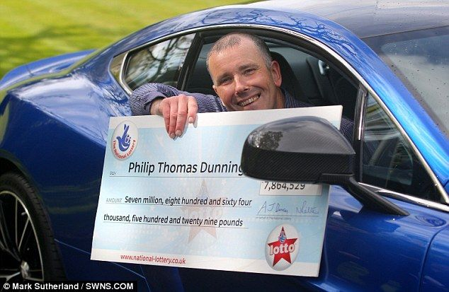 Moment Philip Dunning hears news he won £8m lottery jackpot | Daily Mail Online