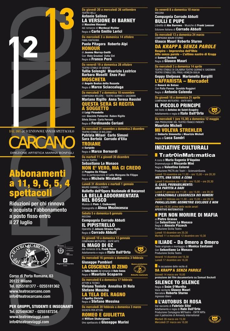Cartellone Stagione Teatrale 2012-2013