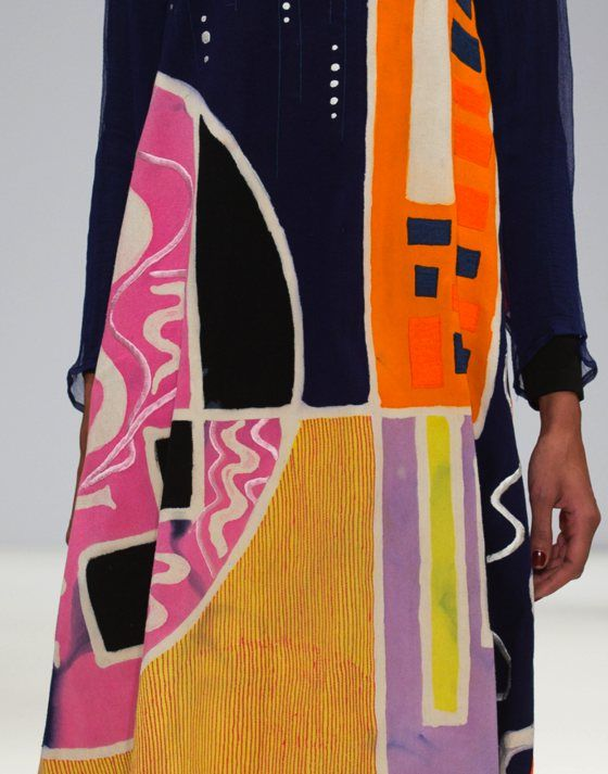 patternprints journal: PATTERNS, PRINTS, TEXTURES AND SURFACES INTO F/W 2016/17 FASHION COLLECTIONS / LONDON 3 - Dian Pelangi x Nelly Rose x  Odette Steele