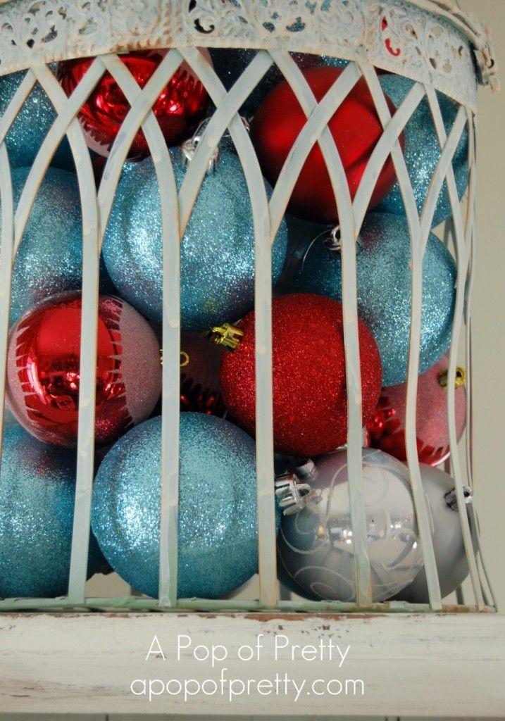 A Pop of Pretty: Canadian Decorating Blog - http://apopofpretty.com/red-turquoise-christmas-decor/