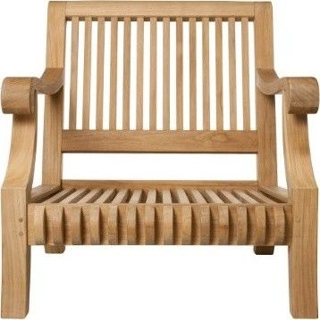 Smith U0026 Hawken® Premium Quality Avignon® Teak Club Chair   Back Deck Lounge  Chairs Part 95
