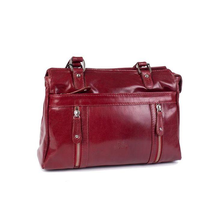 Kasse skinn röd The Monte 52093