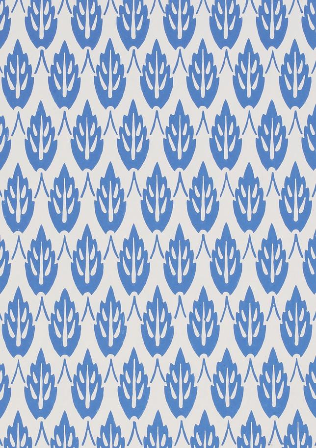 Wallpaper blue white V and A Pattern Series II Owen Jones