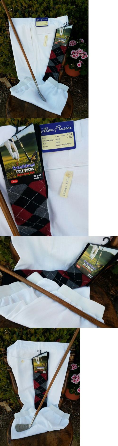 Other Golf Clothing 158939: Golf Knickers 34 Nwt! Alan Flusser Linen Rayon! New Argyles! Nice! -> BUY IT NOW ONLY: $36.95 on eBay!