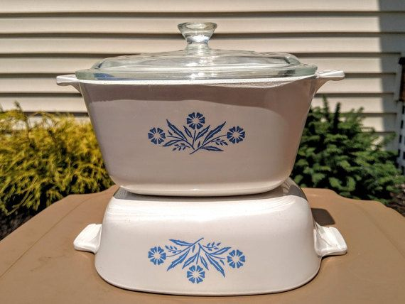 Corning Ware Covered Casserole Dish Set 1 Quart and by awesome80s