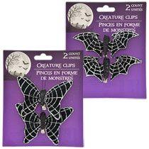 bulk halloween creature clips 2 ct packs at dollartreecom - Glitter Halloween Decorations