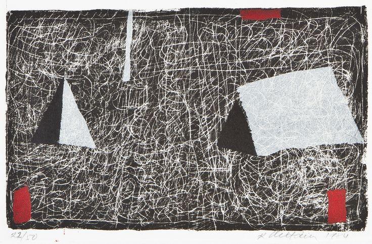 Reino Hietanen, 1984, litografia, edition 27/50 - Hagelstam A137