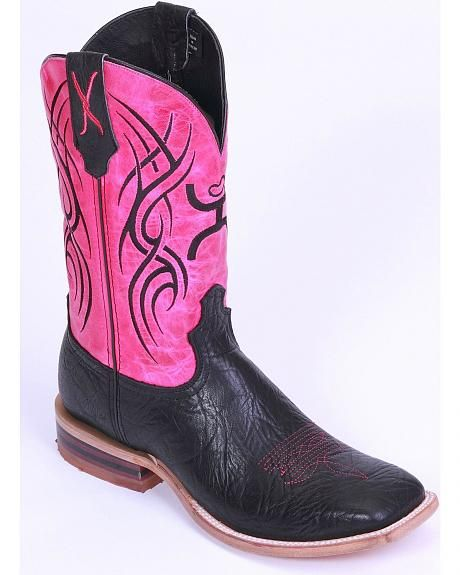 Hooey by Twisted X Neon Pink Cowgirl Boots - Wide Square Toe