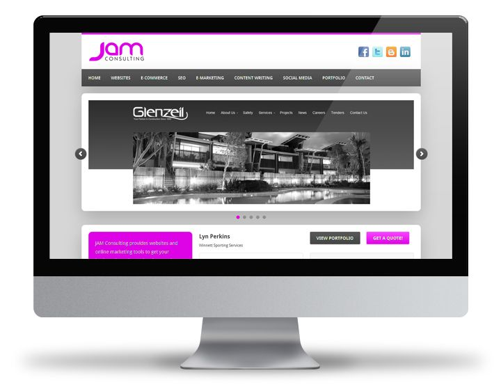 Custom WordPress design for JAM Consulting