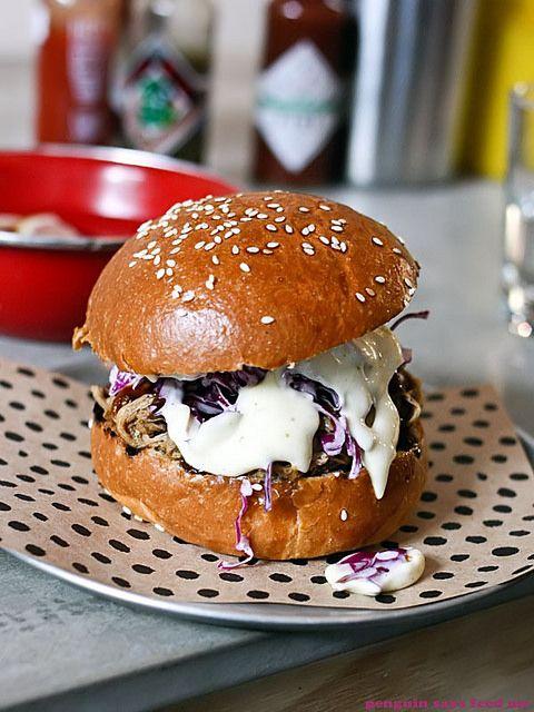 Pulled pork burger from Chur Burger
