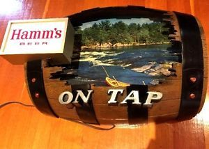 Hamms On Tap Cut Out Barrel Light Beer Sign vintage Hamms Beer Sign antique rare  | eBay