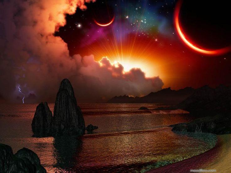 sun moon star background - photo #28