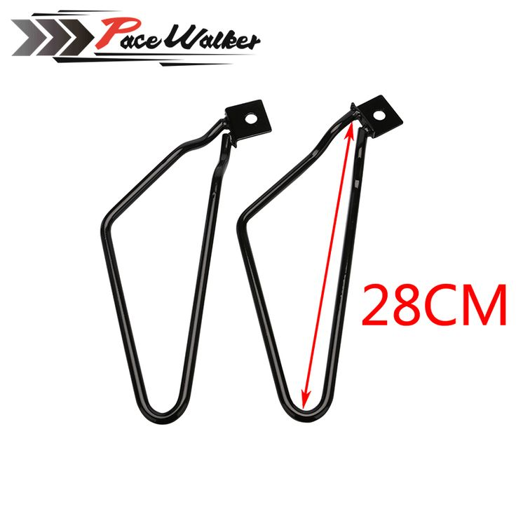 free shipping Motorcycle Saddlebag Support Bars Brackets For Harley Sportster 883 Iron XL883N Dyna Fat Bob FXDF #Affiliate