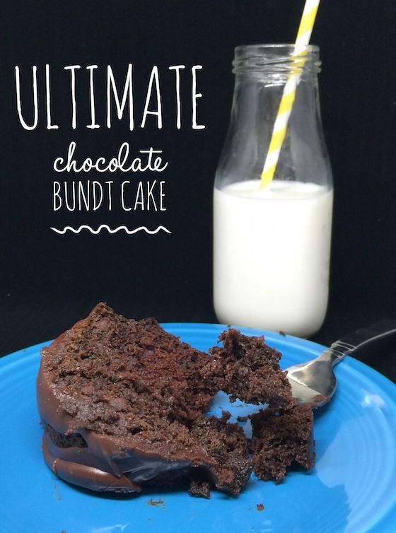 Easy Ultimate Chocolate Bundt Cake is from a box but does not require any icing.
