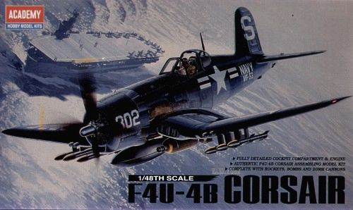 Vought F4U-B Corsair. Academy, 1/48, injection, No.12267. Price: 9,49 GBP.