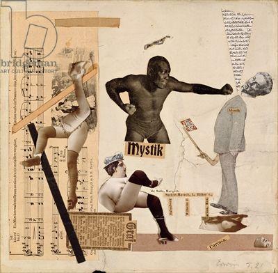Erwin Blumenfeld, Marquis de Sade, 1921, collage sur papier, 25 x 25,4 cm, Jerusalem, Israël Museum, The Vera and Arturo Scwarz Collection.