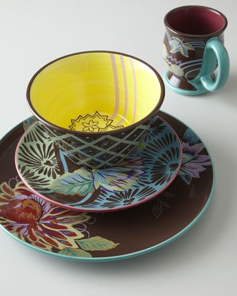 """16-Piece """"Vivre"""" Dinnerware Service by Tracy Porter at Horchow."""