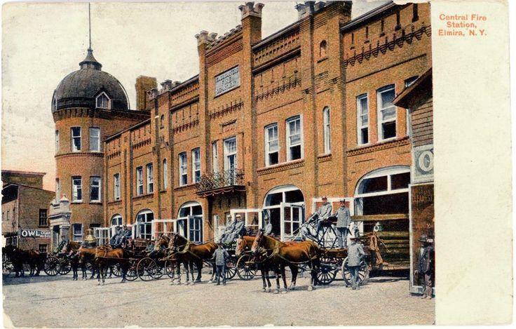 Old Elmira FD where Star Gazette stands today.