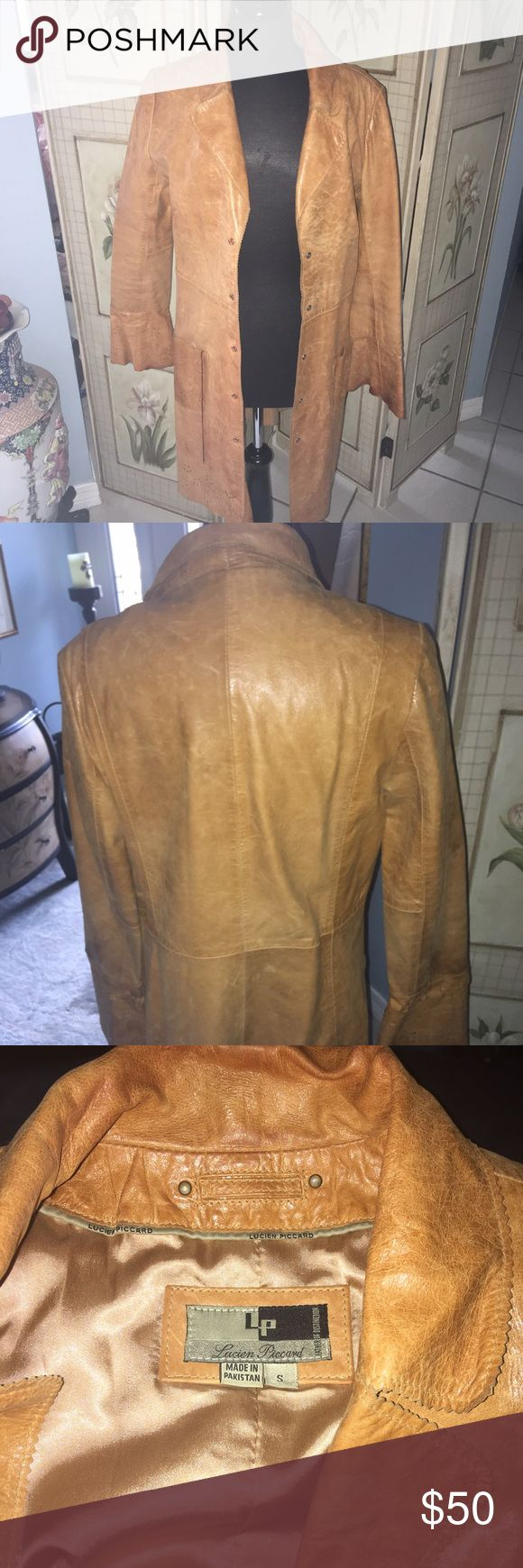 Lucien Piccard long Leather Jacket Excellent condition!  Doesn't get much wear down here due to being warm most of the year Lucien Piccard Jackets & Coats