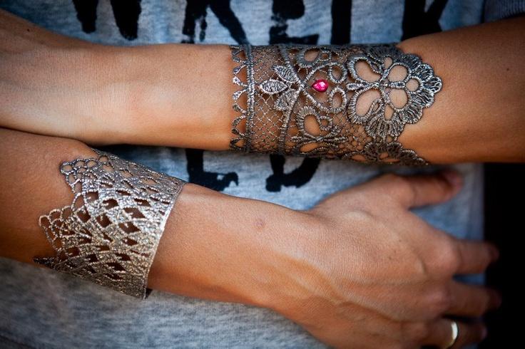 Elena Kougianou Oxydized Lace Cuffs @ www.missbloom.gr