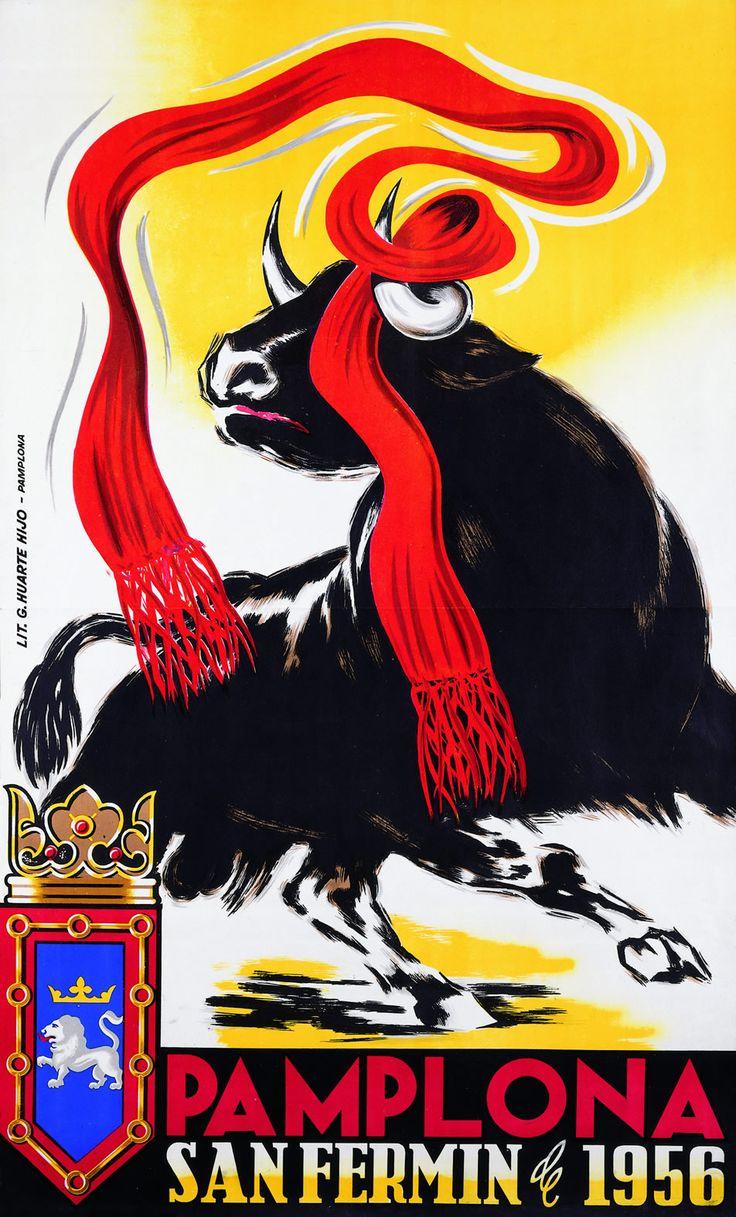 San Fermín 1956 Martín Balda ~Repinned Via Blanca Garrido