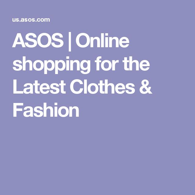 ASOS | Online shopping for the Latest Clothes & Fashion