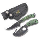 Elk Ridge ER300CA Hunting Knife TwoPiece Set Straight Edge and Gut Hook Blades Camo ABS Handles 7Inch and 612Inch Overall ** Check out this great product.