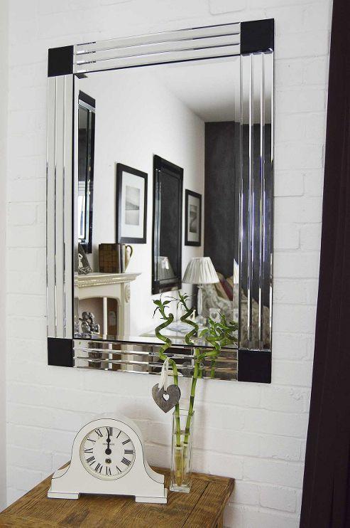 Large All Glass Bevelled Triple Edge Venetian Mirror 3Ft3 X 2Ft3 70Cmx100cm
