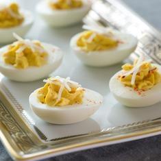 Deviled Eggs (via foodily.com) use Hellmann's Mayo (gf)