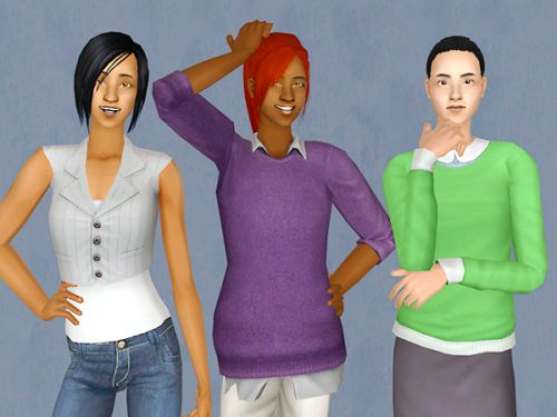 Working Friends household from Sunset Valley, requested by @asimminggibbon (you can find Madison VanWatson here, by Olivemuenda)  Well, they're not perfect, but I tried. I hope you like them :)  If you have any problems with missing eyebrows or...