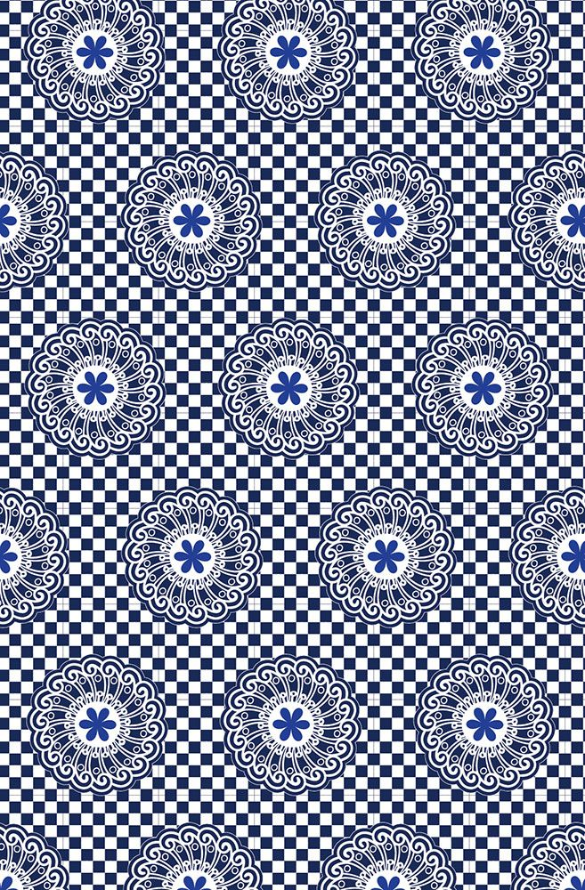 Shweshwe pattern - Angela Bax www.obbligato.co.za