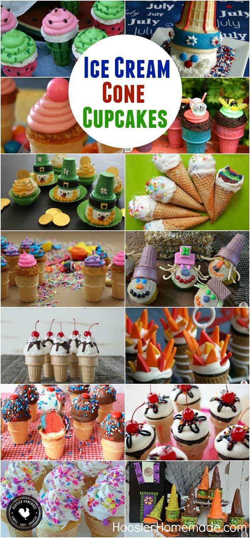 ICE CREAM CONE CUPCAKES #cupcakes #icecreamcone