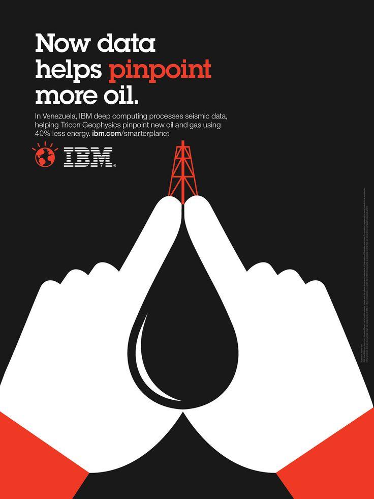 Clever IBM illustrations :) #creative #design #advertising