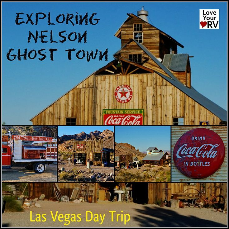 Nelson Ghost Town south of Vegas -  It is supposed to be a mecca for photographers because of the scads of neat old vehicles, signs, equipment and buildings scattered about this unique property. We piled into the car on a sunny, warm late winter day and headed to its location about 20 miles south of Boulder City, Nevada. http://www.loveyourrv.com/photography-day-trip-nelson-ghost-town-nevada/ #Nevada #RVing #RoadTrip