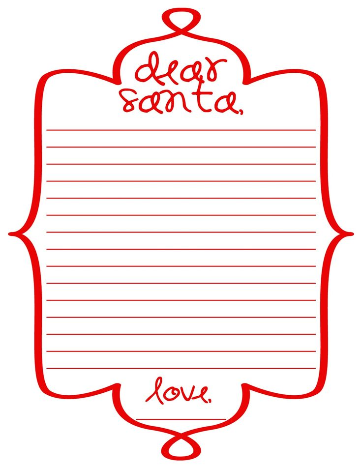 113 best Christmas Printable Letters to\/from Santa,Envelopes - Kids Christmas List Template