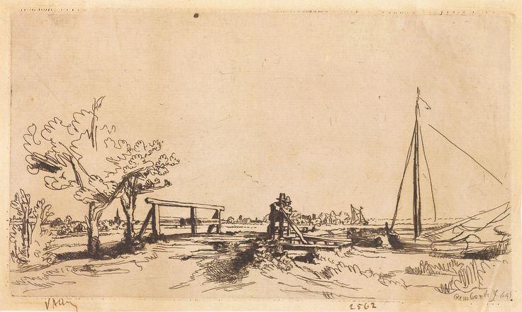 """Puntea lui Six, 1789-1797 (după Rembrandt), semnată și datată dreapta jos: Rembrandt f. 1645. Imagine din colecțiile Bibliotecii """"V.A. Urechia"""" Galați."""