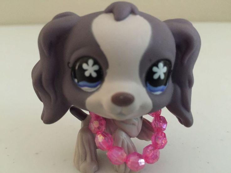 Littlest Pet Shop Cocker Spaniel Dog Lps Purple Lavender ...