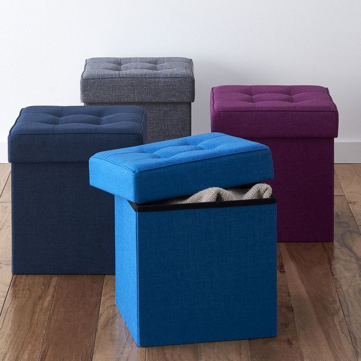 Tufted Storage Ottoman Designed To Fold Down When Not In Use The Upholstered Storage