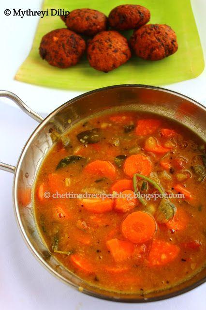 Carrot Sambar( Carrot and Dal Curry) http://chettinadrecipesblog.blogspot.com.au/2013/07/carrot-sambar.html