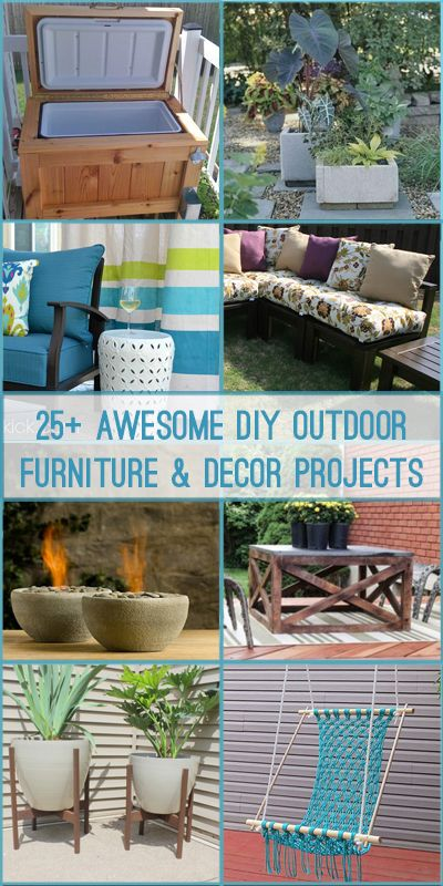 Create a comfortable, family-friendly backyard space for entertaining with these DIY outdoor furniture and decor project tutorials.