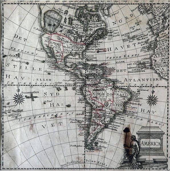 Mapa de América de Jonghe, 1770 (Jonghe)