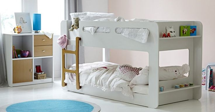 Kids adore bunk beds, but they're usually best for older children. Here's one suitable for smaller kids, right down to preschoolers. And it looks good too.